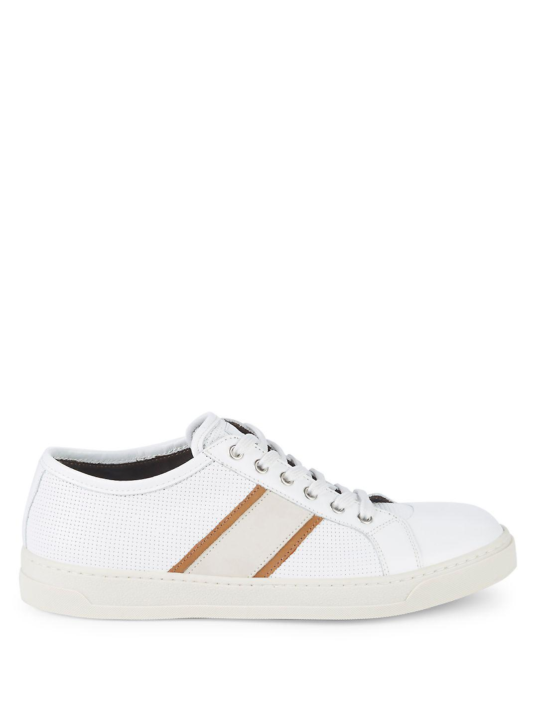 Bruno Magli Vico Leather Sneakers in White