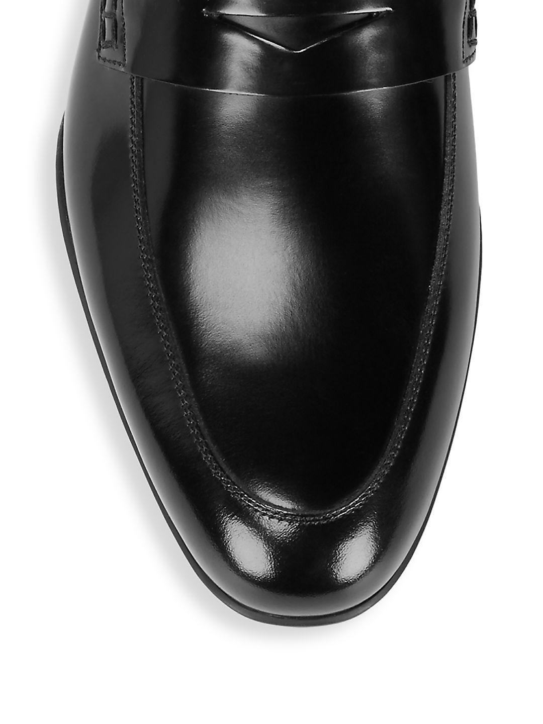 Harry's Of London Polished Leather Loafers in Black for Men