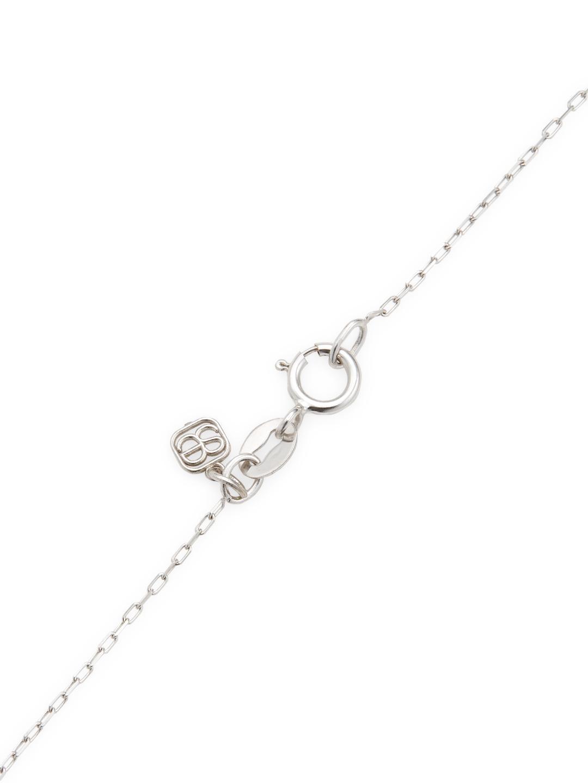Sydney Evan 14k White Gold Wishbone Pendant Necklace