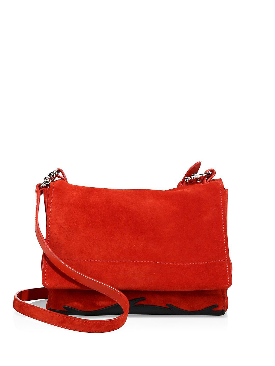 3.1 Phillip Lim Ames Suede Crossbody in Red