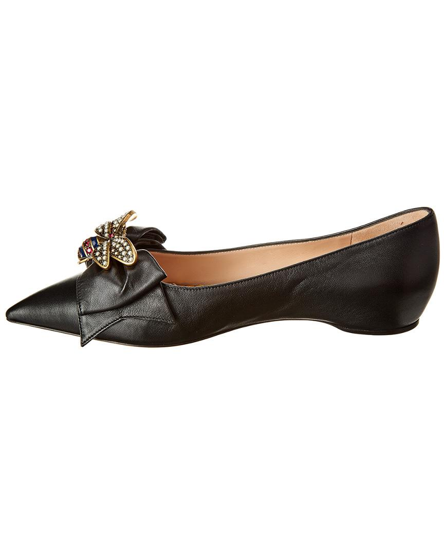 Gucci Queen Margaret Leather Flat in