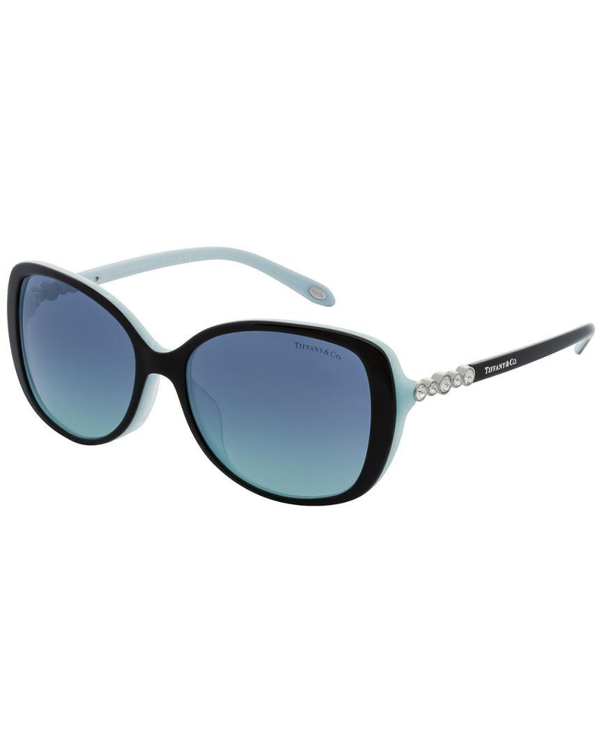 c6f24d499368 Tiffany   Co Women s Tf4121bf 55mm Sunglasses in Blue - Lyst
