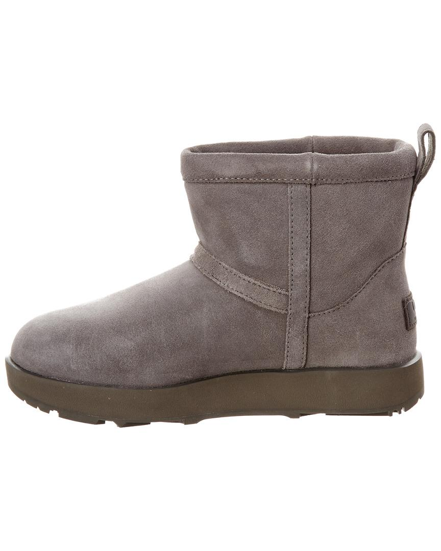 UGG Rubber UGG Classic Mini Waterproof Boot in Grey (Grey)