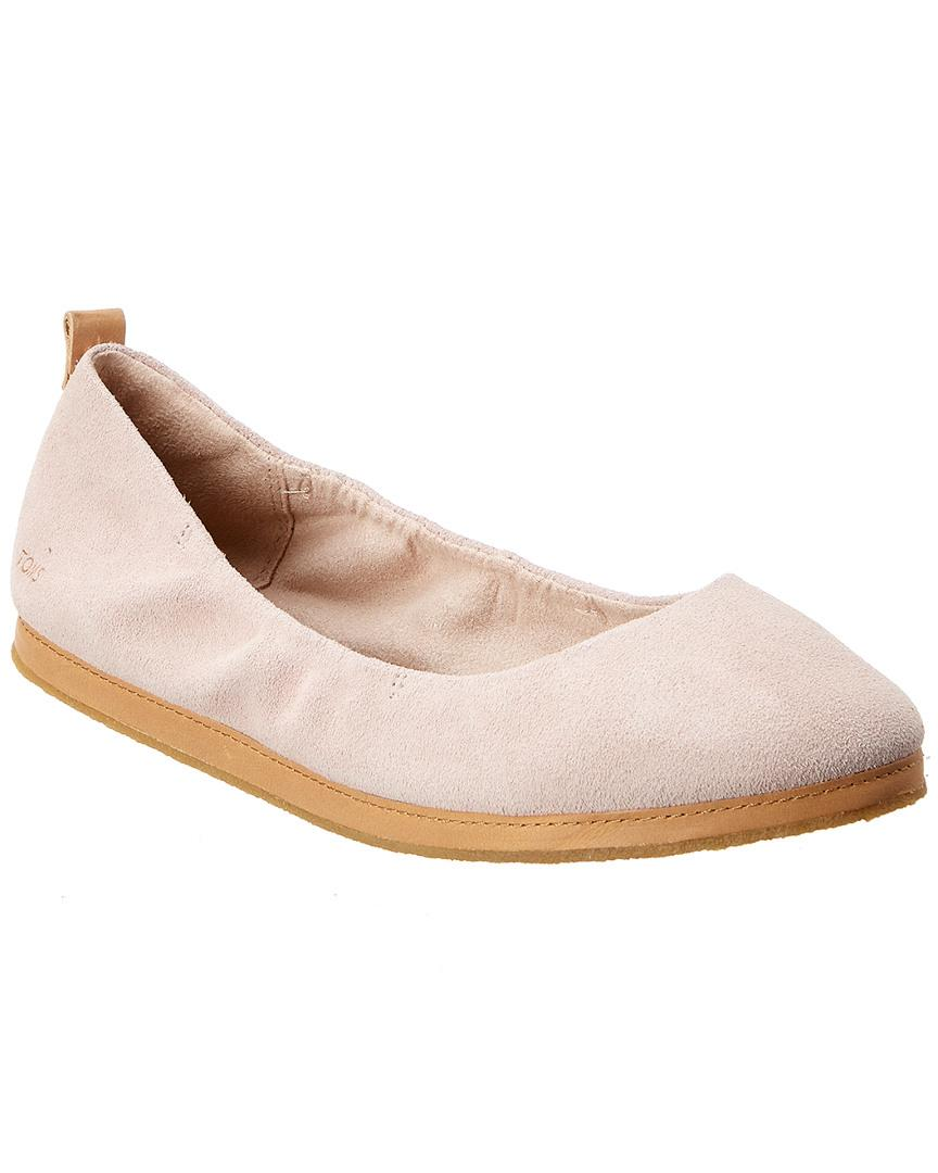 TOMS Rubber Olivia Suede Flat - Lyst
