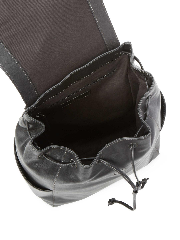 Frye Leather Olivia Backpack in Black