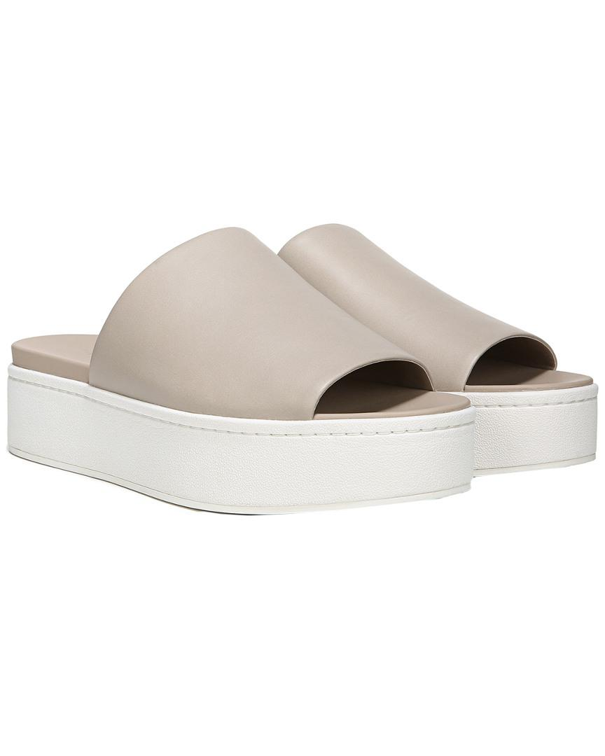 69d4b61a4d5e Lyst - Vince Walford Leather Slide Sandal - Save 44%