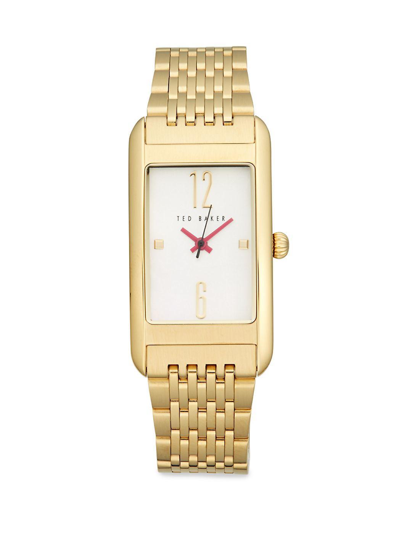 b0d79e08e2f Lyst - Ted Baker Mother-of-pearl Rectangular Bracelet Watch in Metallic