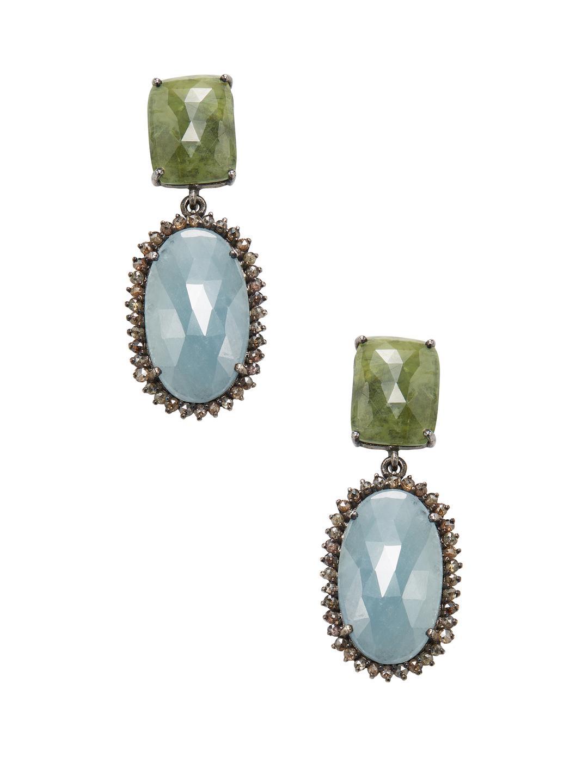 Bavna Multi-Sapphire Drop Earrings CmXYj