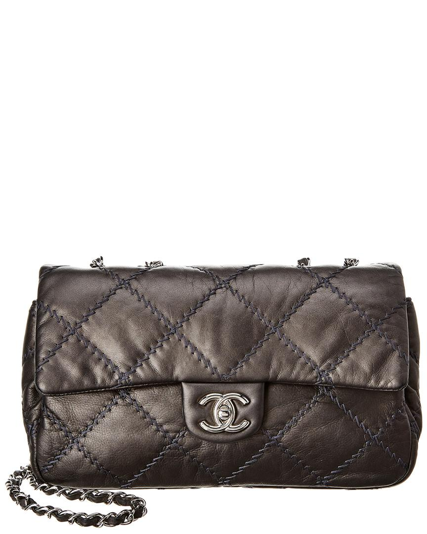 075f38258 Chanel. Women's Gray Grey Quilted Lambskin Leather Ultimate Stitch Medium Flap  Bag