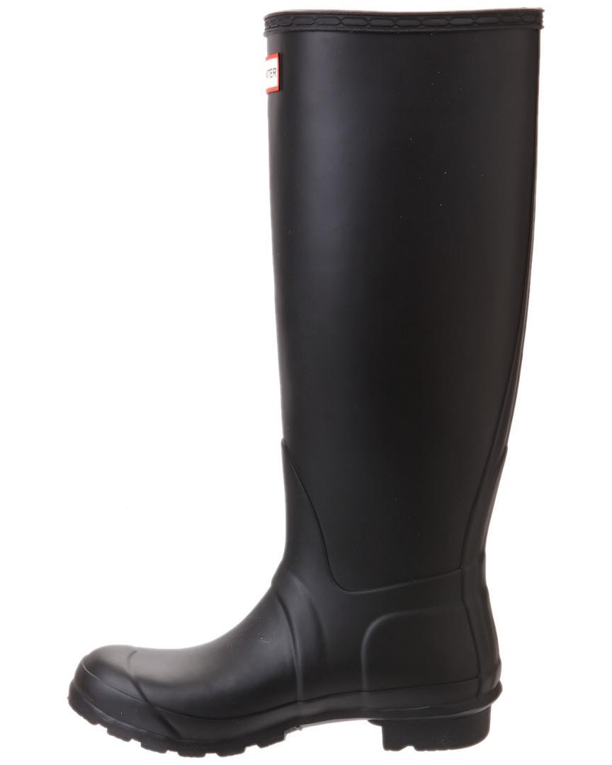 HUNTER Rubber Original Tall Black Wellington Boots - Save 20%