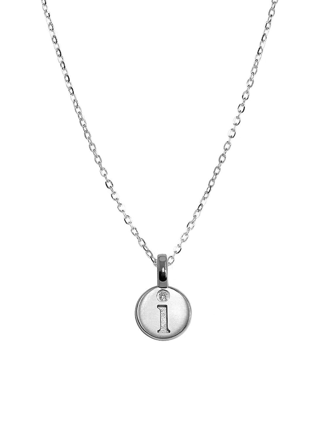 alex woo silver mini letter l pendant necklace in metallic With alex woo mini letters