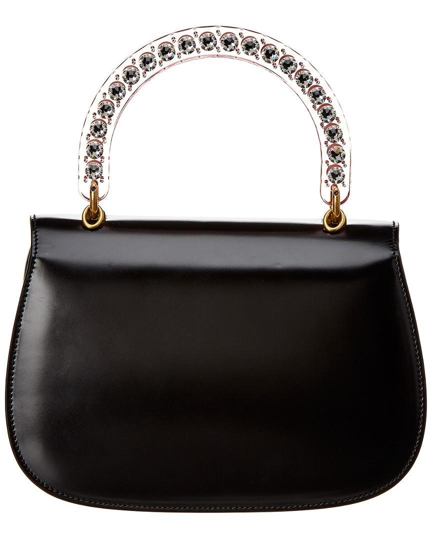c02b195c4dd1 Lyst - Gucci Bamboo Classic 2 Top Handle Medium Leather Shoulder Bag in  Black