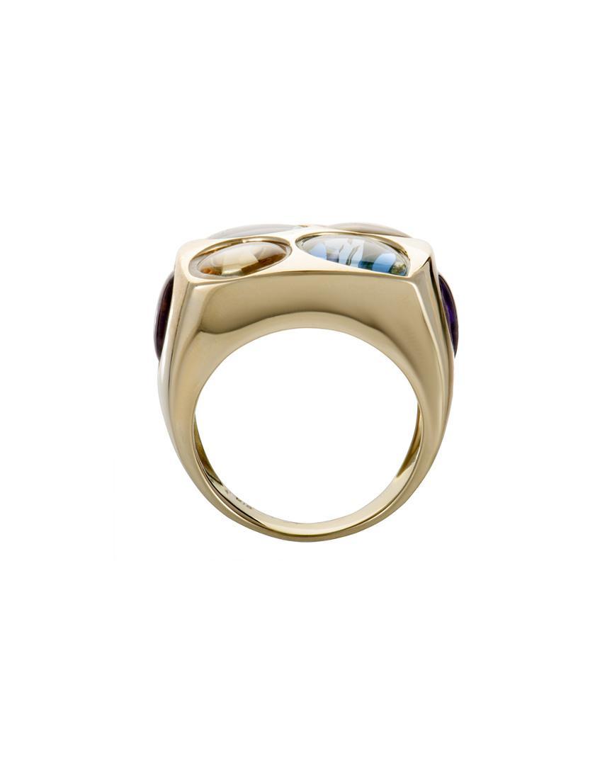 Heritage 18k Gemstone Ring in Metallic