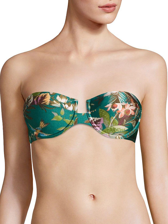 94f91ad4b9c97 Zimmermann Two-piece Tropicale Balconette Bikini in Green - Lyst