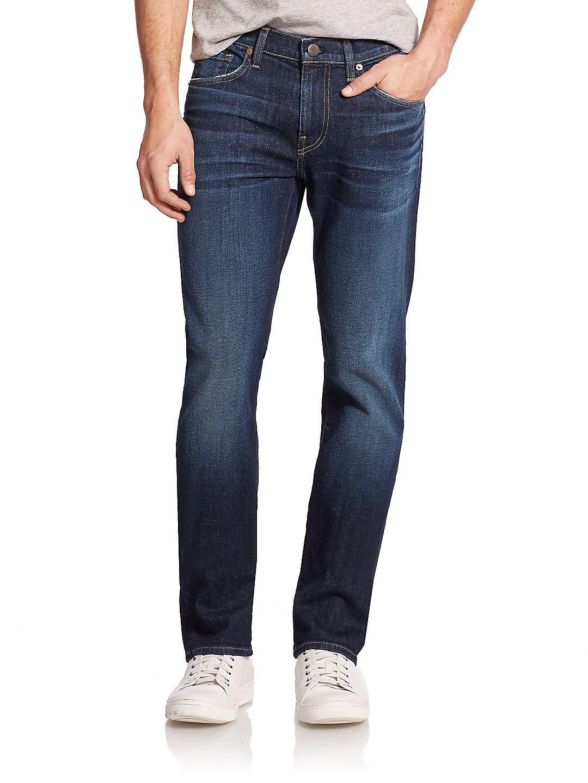 J Brand Denim Kane Straight Jeans in Parker (Blue) for Men