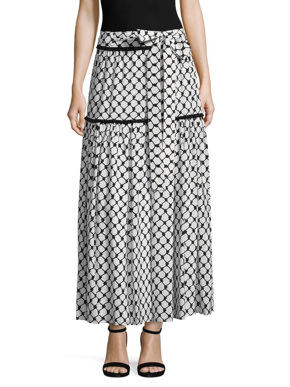 Dodo Bar Or Woman Printed Silk-chiffon Maxi Skirt Black Size 42 Dodo Bar Or DoKrBQr