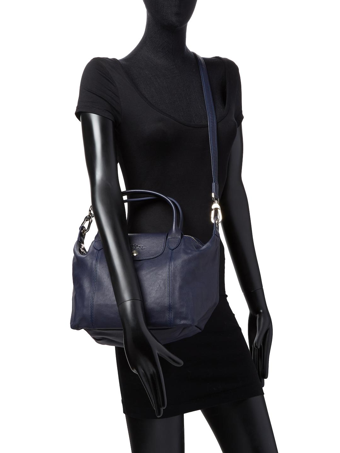 Le Pliage Cuir Leather Small Top Handle
