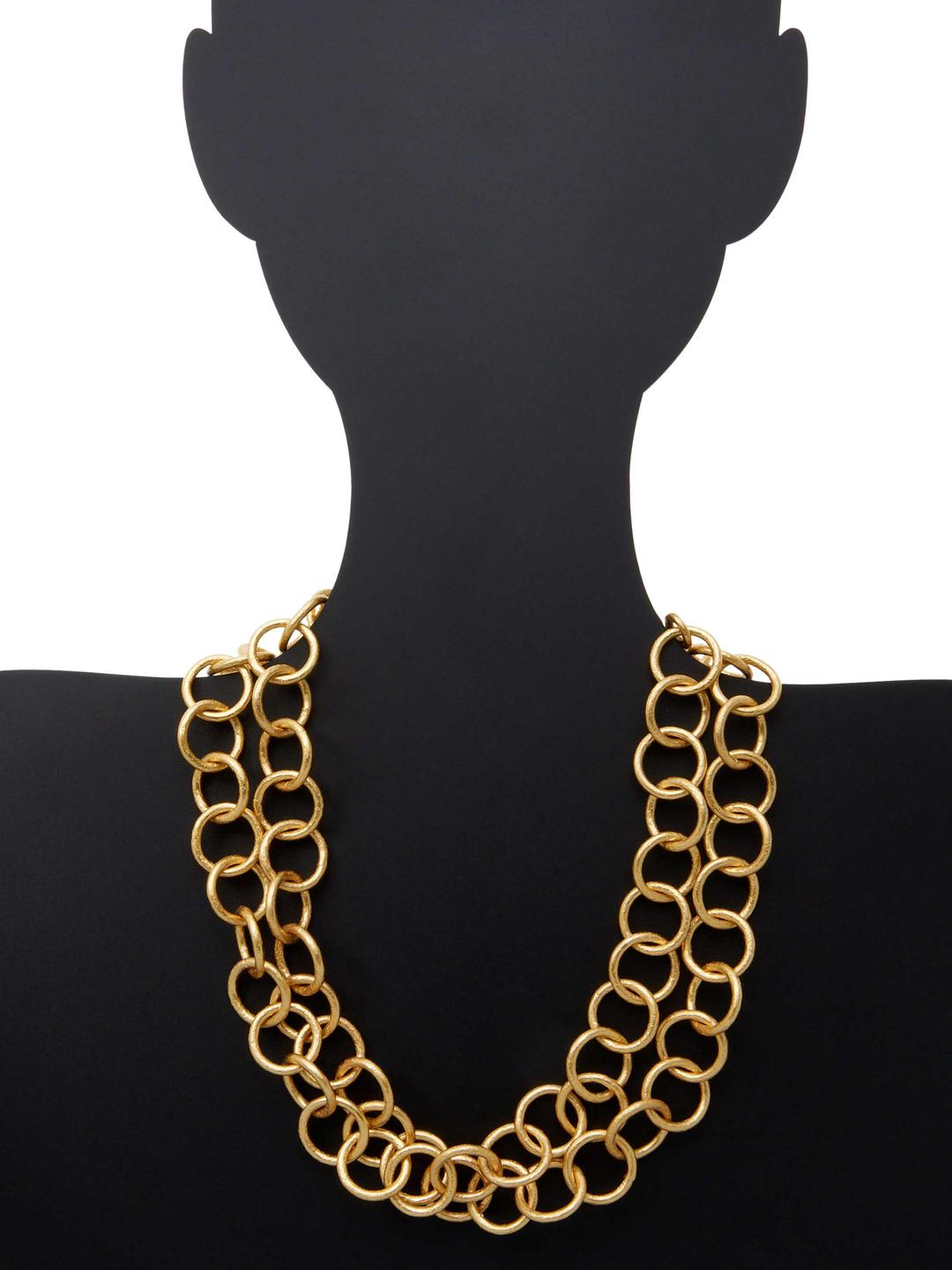 Stephanie Kantis Gold Classic Chain Necklace in Metallic