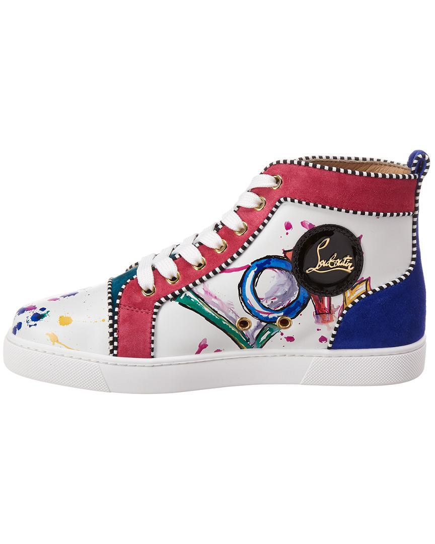 wholesale dealer e590c 2ccfc Women's White Love Leather & Suede High-top Sneaker