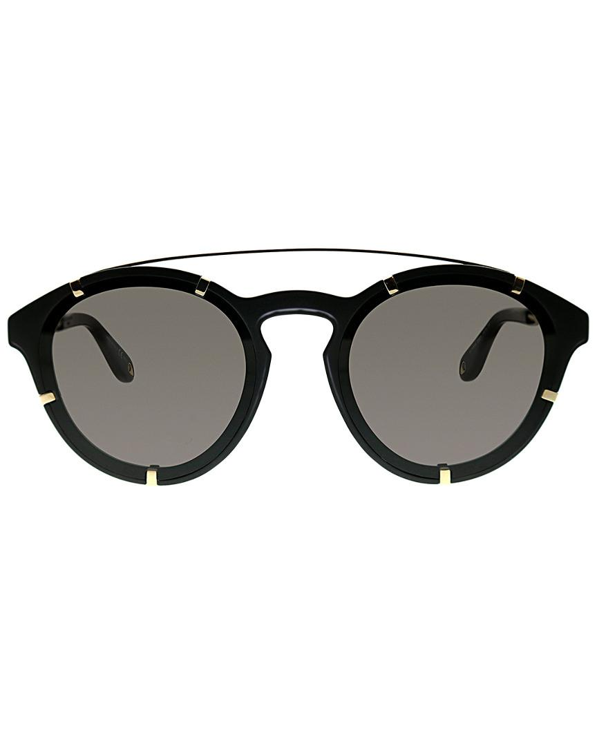 Givenchy 7088 Men's Round Sunglasses in Black