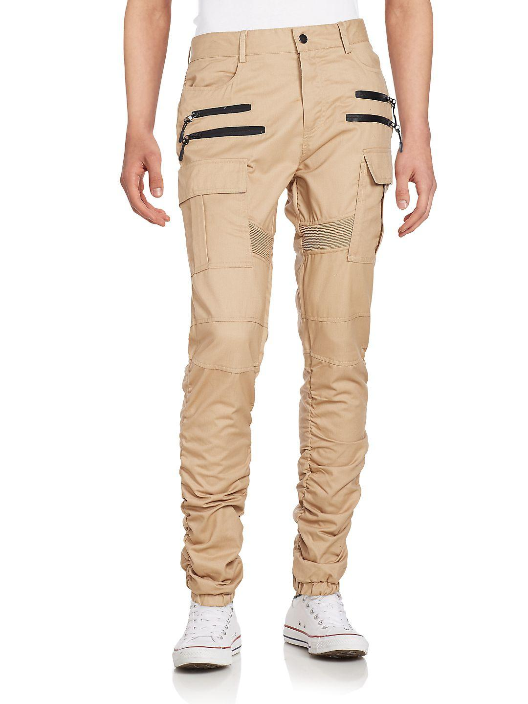 American Stitch Synthetic Twill Cargo Pants for Men