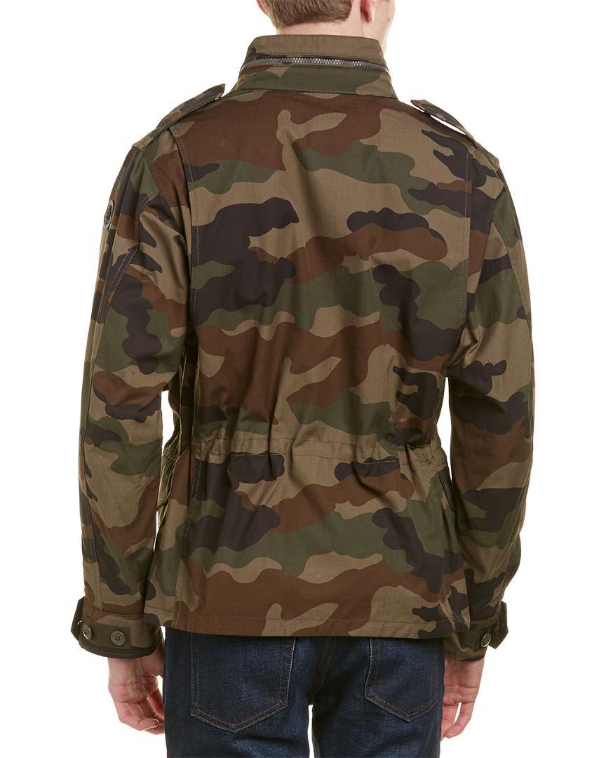 55e7b51f6 Moncler Green Saturne Camouflage Reversible Jacket for men