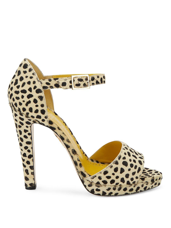 Charlotte Olympia High Heel   Dolly Metallic Leopard Print