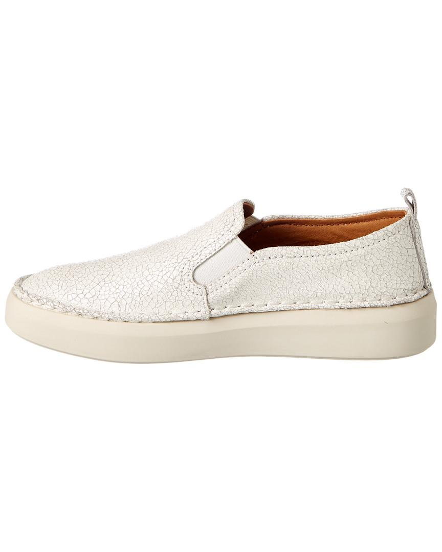 66bbf65c9cc13 Lyst - Frye Brea Slip On Leather Sneaker in White - Save 47%