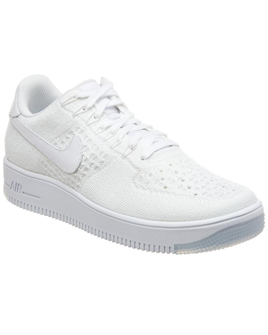 Nike Af1 Ultra Flyknit Low Shoes in White for Men - Lyst