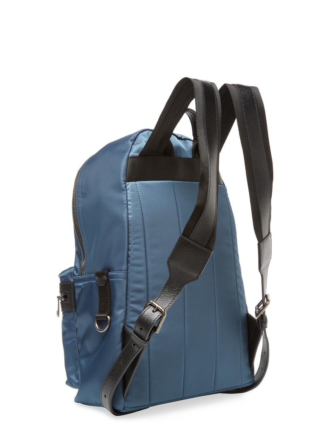 Dolce & Gabbana Leather Cowboy Patch Backpack in Blue for Men