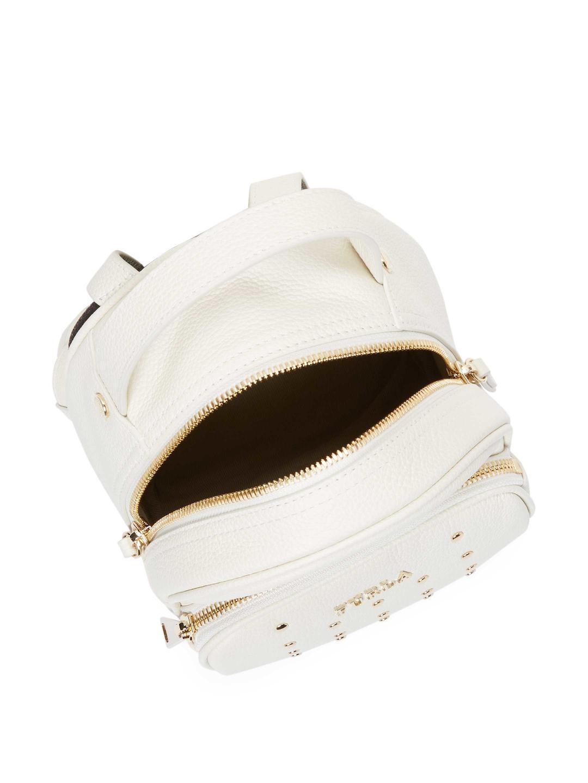 03f91cf3d4e Furla White Studded Frida Mini Backpack