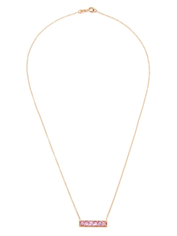 Dana Rebecca Allison Joy 14k Rose Gold & Pink Sapphire Necklace