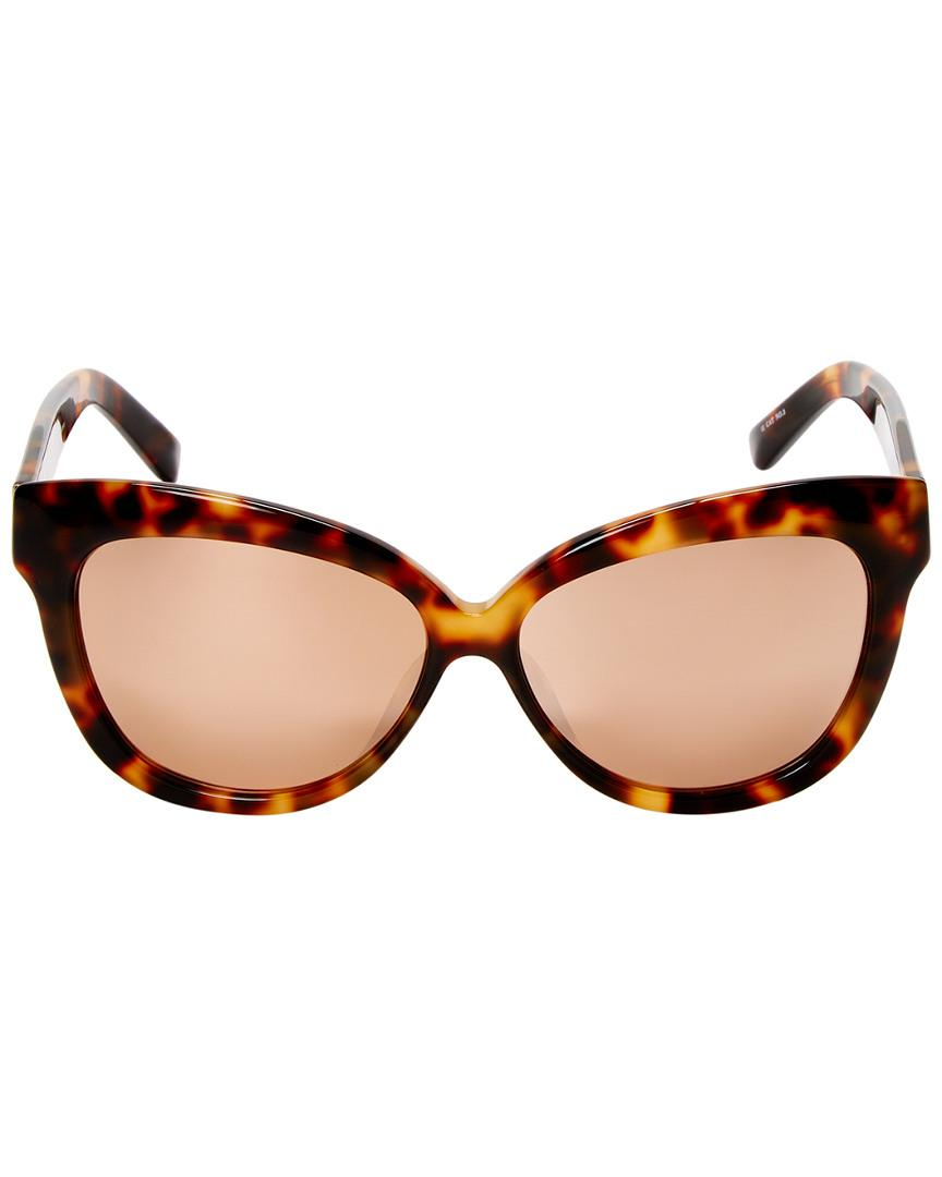 98dcc14252 Linda Farrow Luxe 60.5mm Cat-eye Sunglasses in Brown - Save 32% - Lyst