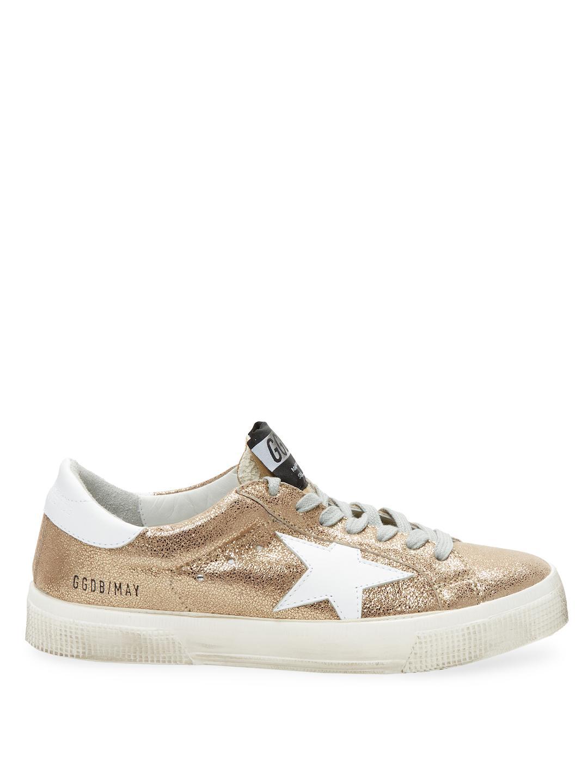Golden Goose Deluxe Brand Metallic Leather Patch Sneakers