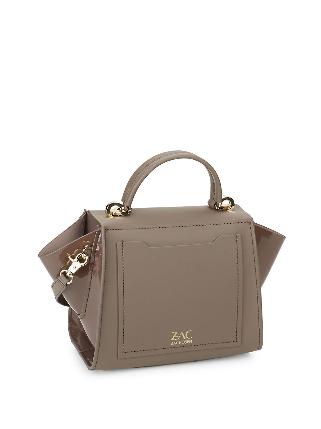 Zac Zac Posen Eartha Iconic Leather Satchel In Brown Lyst