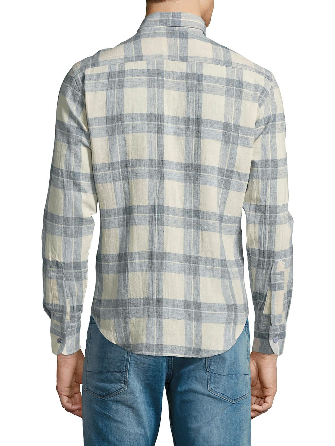1165f8c76a5 Lyst - Naked   Famous Check Regular Sportshirt in Blue for Men