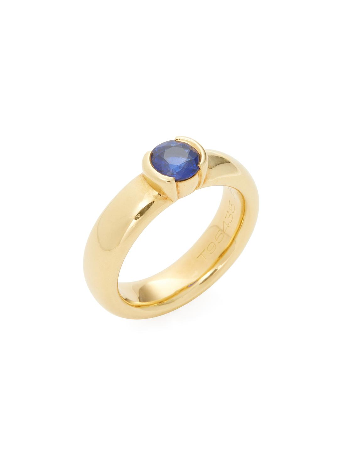 dc5546a64 Tiffany & Co. Vintage 18k Yellow Gold & Blue Stone Ring in Blue - Lyst