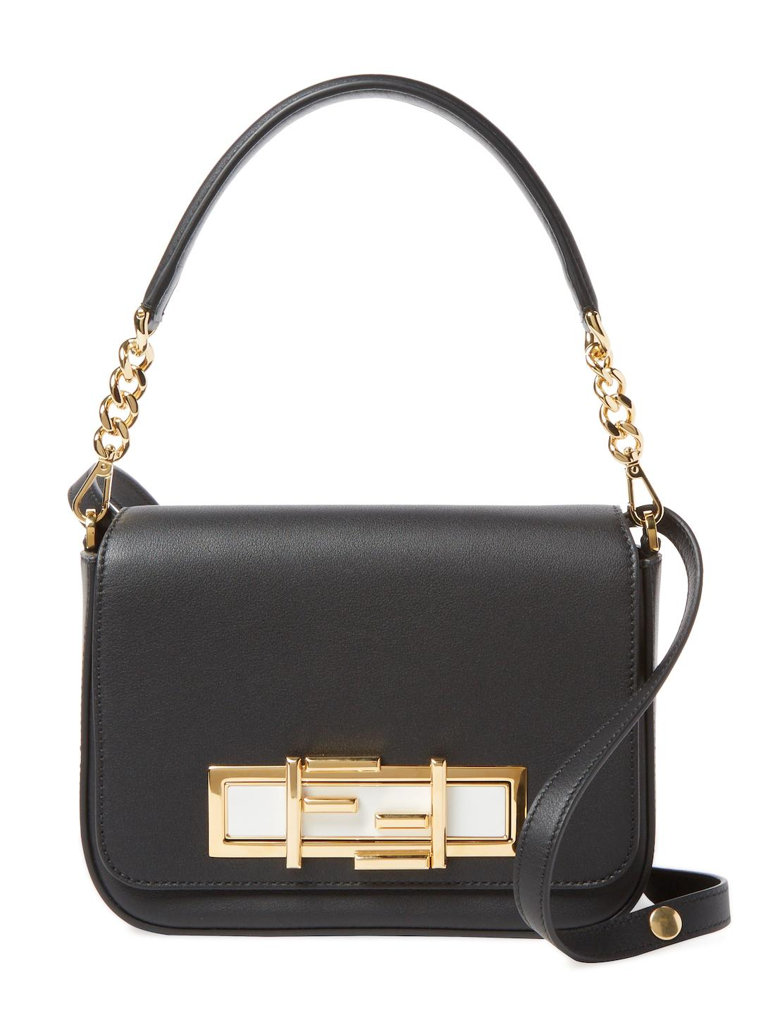aebae760f1 Fendi 3baguette Small Leather Satchel in Black - Lyst