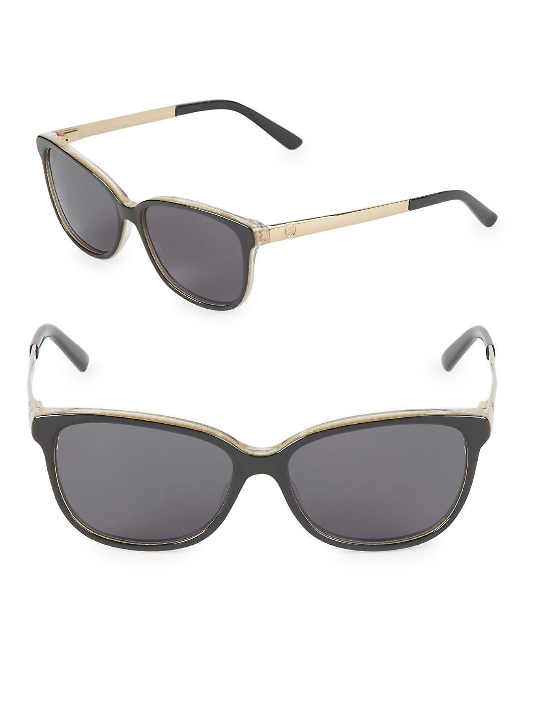 068cac4d603c Gucci 54mm Butterfly Sunglasses in Gray - Lyst