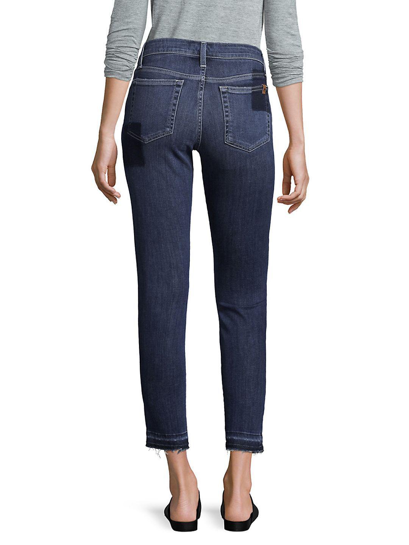 Joe's Jeans Denim Skinny Patch Ankle Jeans in Daisy (Blue)