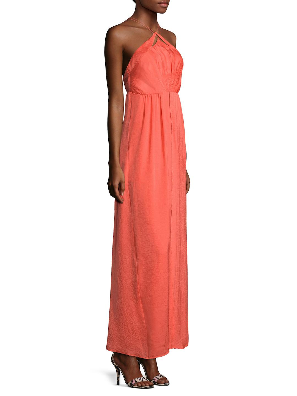 StyleStalker Synthetic Phoebe Slit Maxi Dress in Red