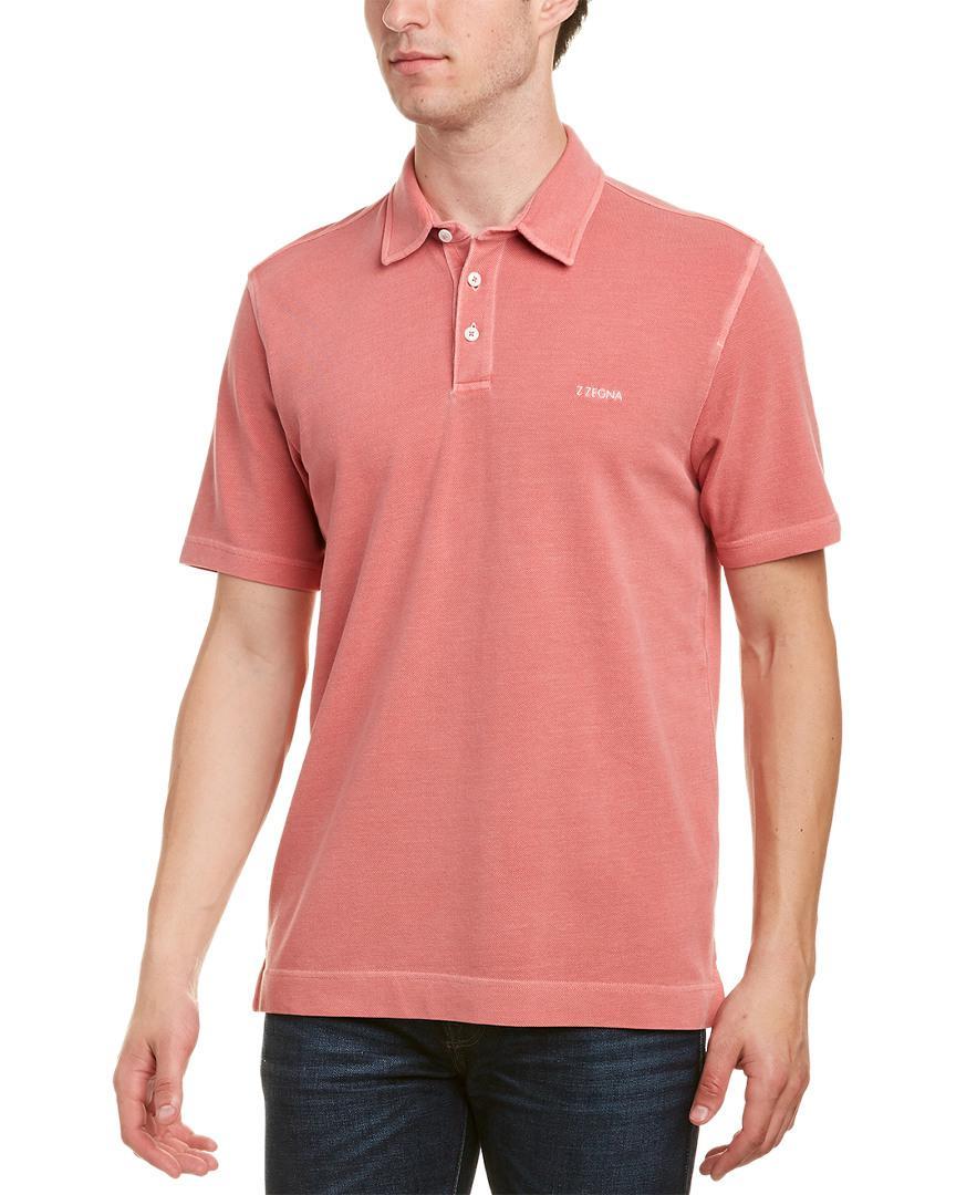 c756d87b Ermenegildo Zegna Z Zegna Cotton Pique Polo Shirt in Red for Men - Lyst