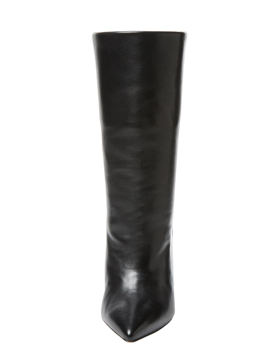Isabel Marant Solid Leather Boot in Black