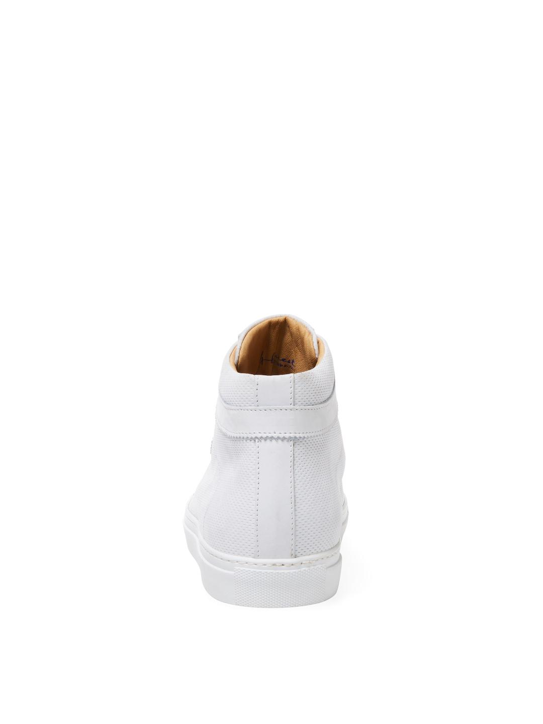 A'Louest Shaka Leather Hi-top in White for Men