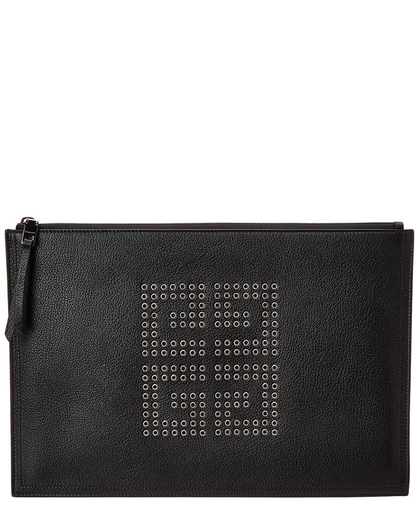 3d6f9bf242b Givenchy Embellished Logo Clutch Bag in Black - Save 56% - Lyst
