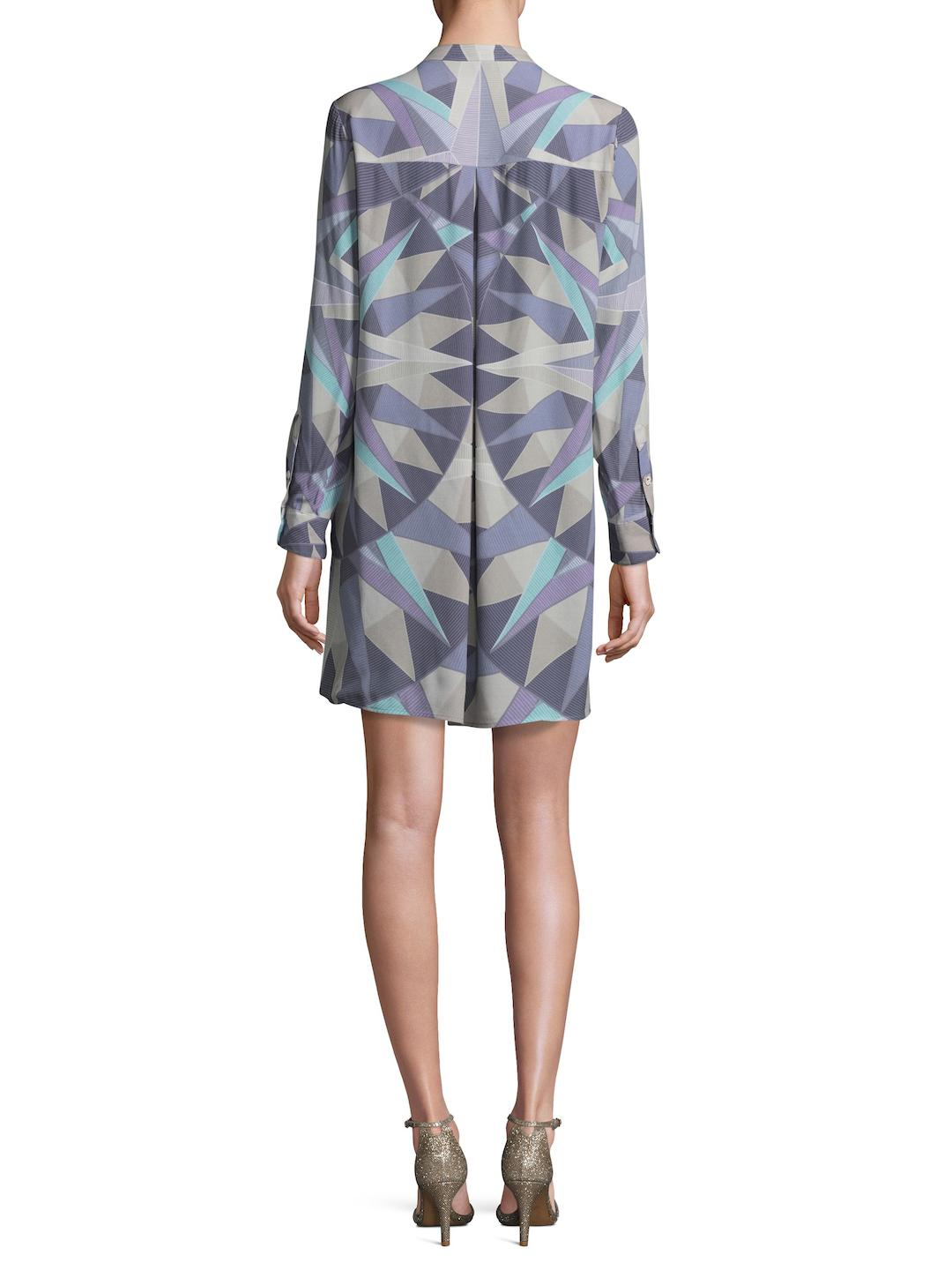 Mara Hoffman Synthetic Compass Printed Tunic Dress in Lavender Grey (Grey)