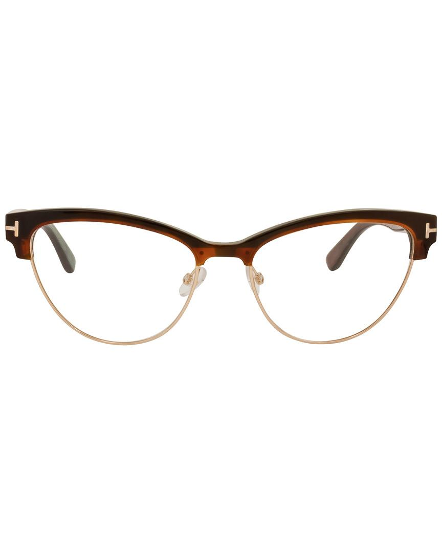 18e14dac791 Tom Ford Women s Ft5365 54mm Optical Frames in Brown - Lyst