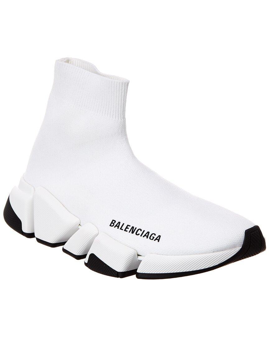balenciaga white speed trainers