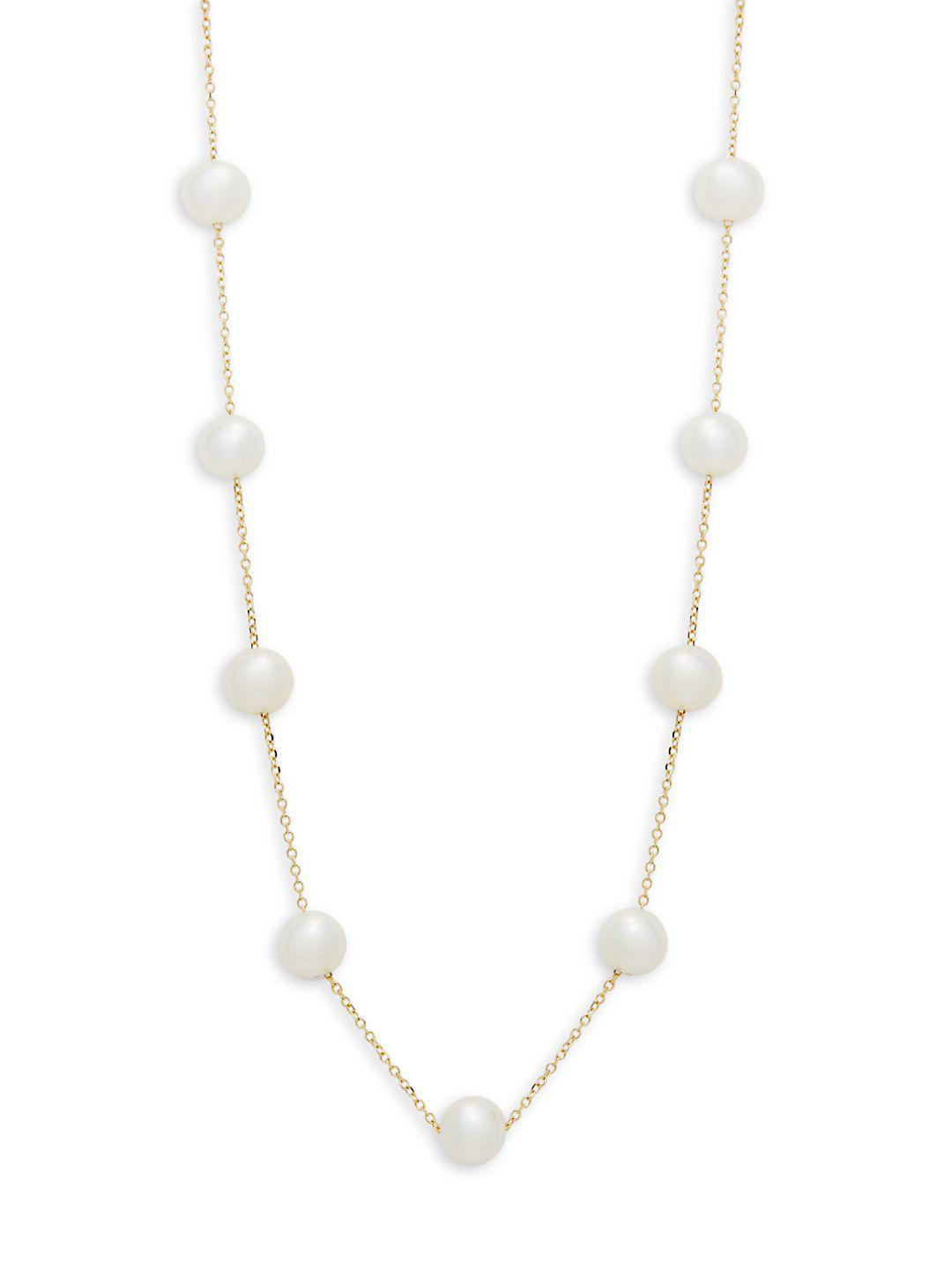 Effy 18k Yellow Gold And Freshwater Pearl Necklace in Metallic