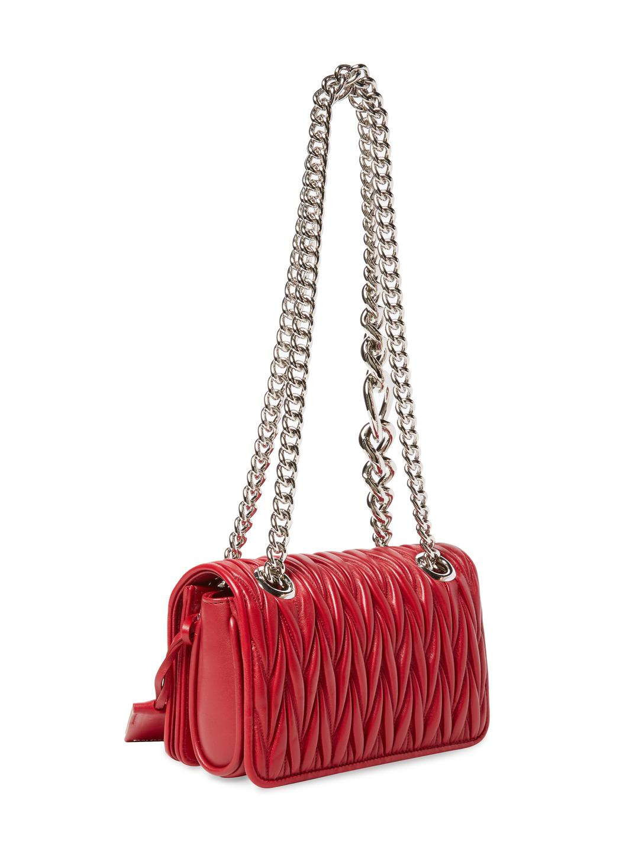 6d7825434405 Miu Miu - Red Club Small Matelass Leather Shoulder Bag - Lyst. View  fullscreen